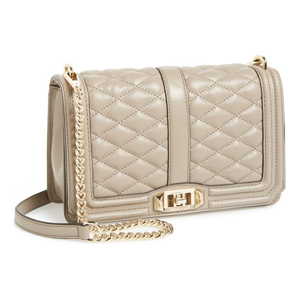 REBECCA MINKOFF Love crossbody bag - Lush quilted leather in a fall-ready hue lends elegant...