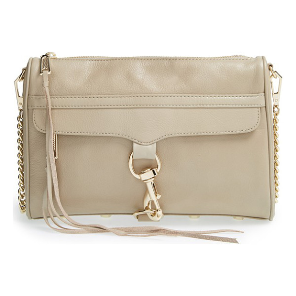 REBECCA MINKOFF Mac convertible crossbody bag - An oversized clip-lock boldly details the front flap of an...