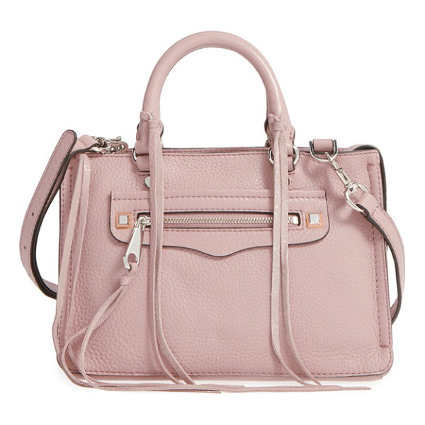 REBECCA MINKOFF Micro regan satchel - Trailing zip tassels add eye-catching movement to a compact...