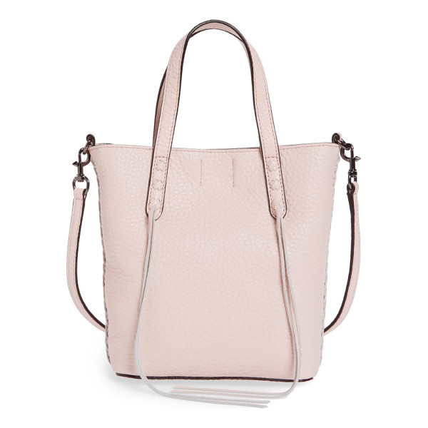 REBECCA MINKOFF mini leather tote - Buttery-soft pebbled leather adds a luxe feel to a
