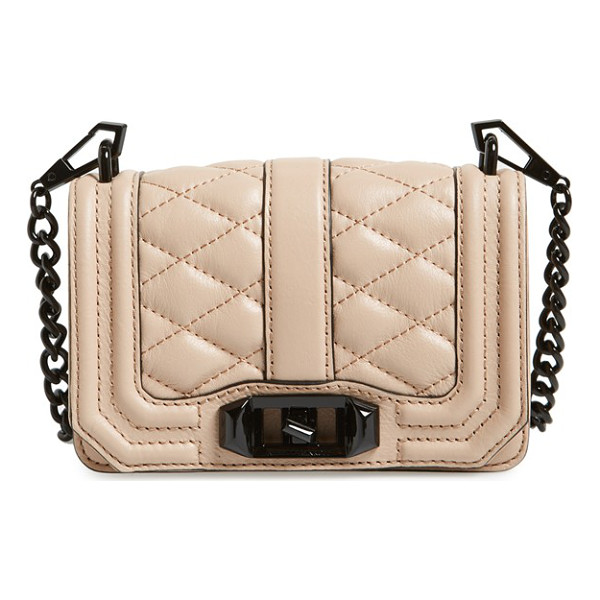 REBECCA MINKOFF Mini love convertible crossbody bag - Sleek quilted leather lends elegant dimension to a...