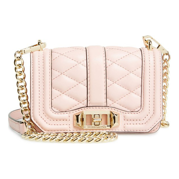 REBECCA MINKOFF Mini love crossbody bag - Sleek quilted leather lends elegant dimension to a...