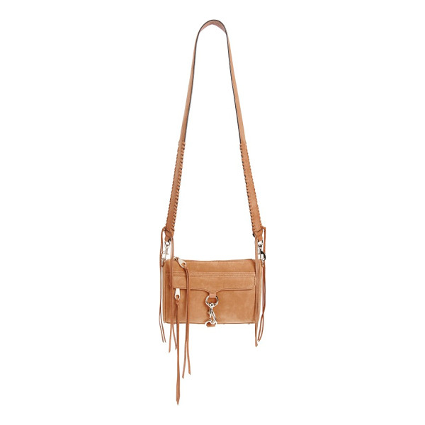 REBECCA MINKOFF mini mac convertible crossbody bag - A wide strap with whipstitched trim refreshes an iconic...
