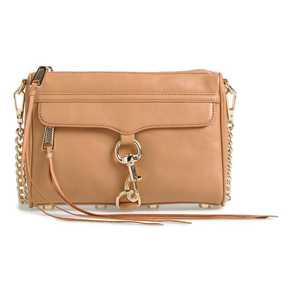 REBECCA MINKOFF Mini mac convertible crossbody bag - An oversized clip-lock gleams at the front flap of a rich...