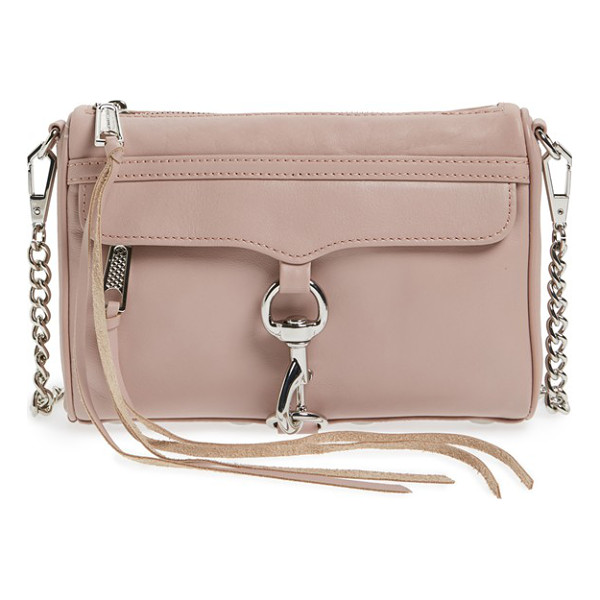REBECCA MINKOFF 'mini mac' convertible crossbody bag - An oversized clip-lock gleams at the front flap of a rich...
