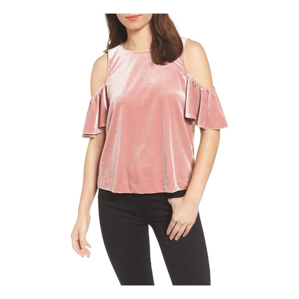 REBECCA MINKOFF monsoon cold shoulder velvet top - Ruffled sleeves drape from the bodice as this flowing...