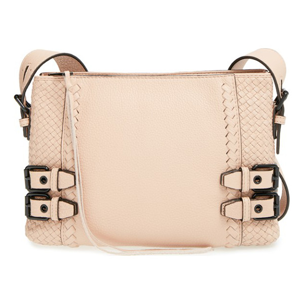 REBECCA MINKOFF Moto crossbody bag - Woven side insets and tonal, whipstitched trim add interest...