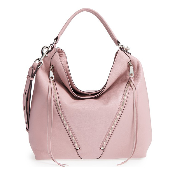 REBECCA MINKOFF Moto hobo bag - A pair of asymmetrical zip pockets provides a bit of moto...