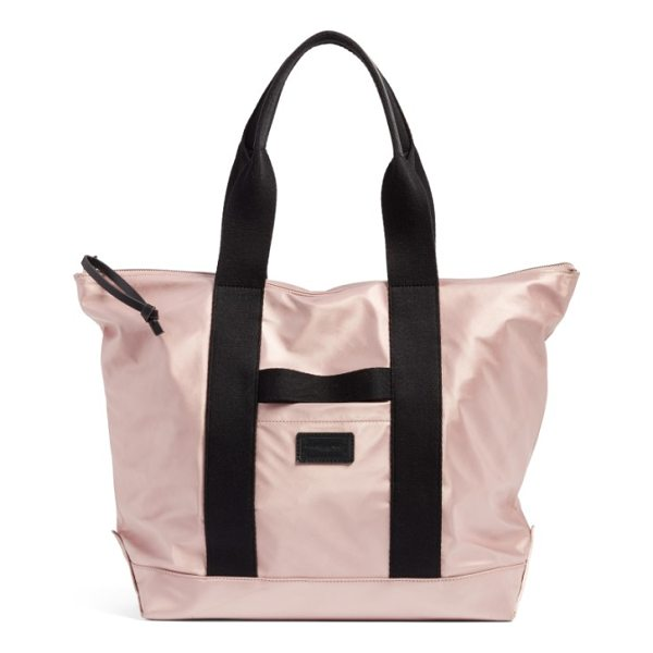 REBECCA MINKOFF satin nylon tote - Minimalist and chic, this spacious tote is cut from durable...