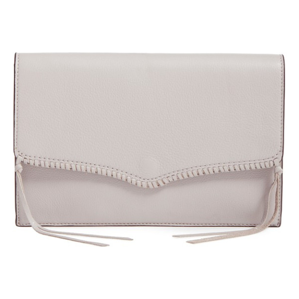 REBECCA MINKOFF panama leather envelope clutch - A hint of Western influence updates a slim envelope clutch