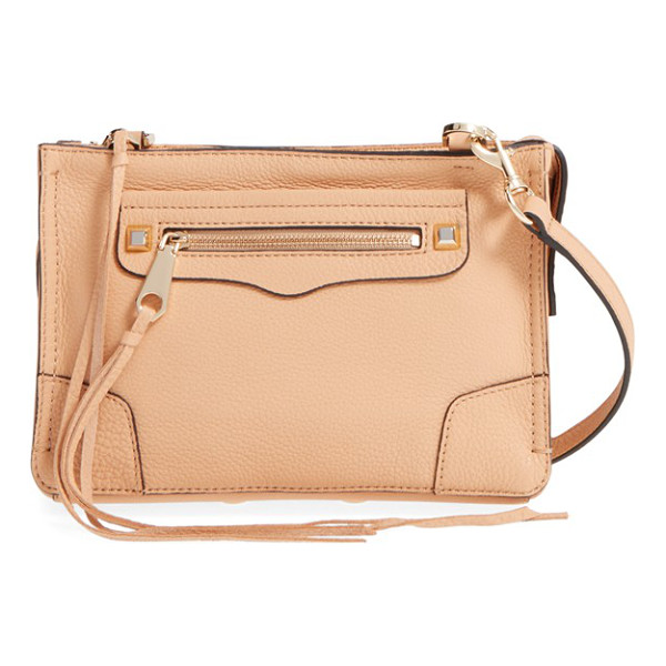 REBECCA MINKOFF Regan crossbody bag - A chic clutch shaped from supple leather features long,...