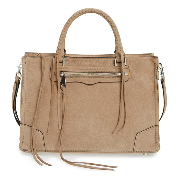 REBECCA MINKOFF Regan satchel - The Regan satchel goes extra-luxe in supersoft nubuck...