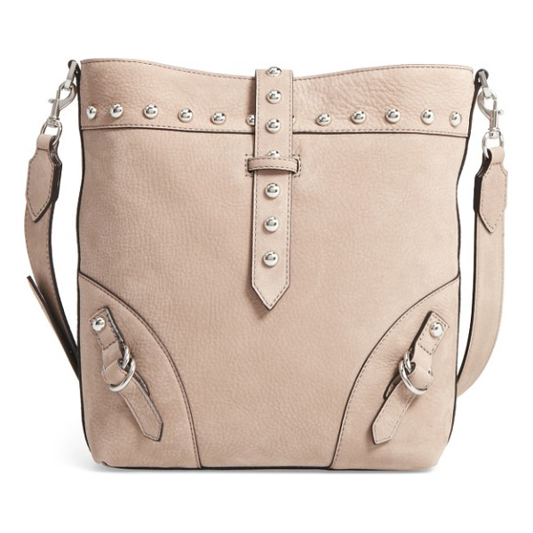 REBECCA MINKOFF rose leather bucket bag - Polished studs and buckle details add sophisticated edge to...