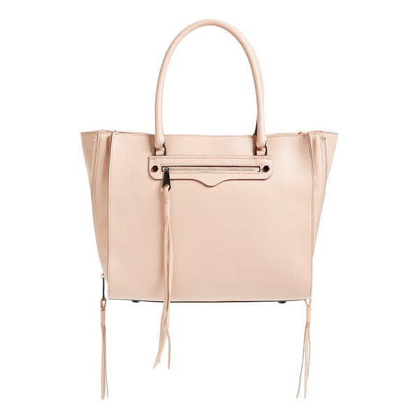 REBECCA MINKOFF Side zip regan tote - Trailing zip tassels extend the dramatic modern style of a...
