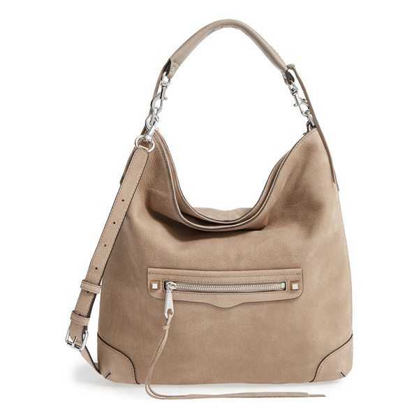 REBECCA MINKOFF Slim regan hobo - A whipstitched carry handle and trailing tassel details...