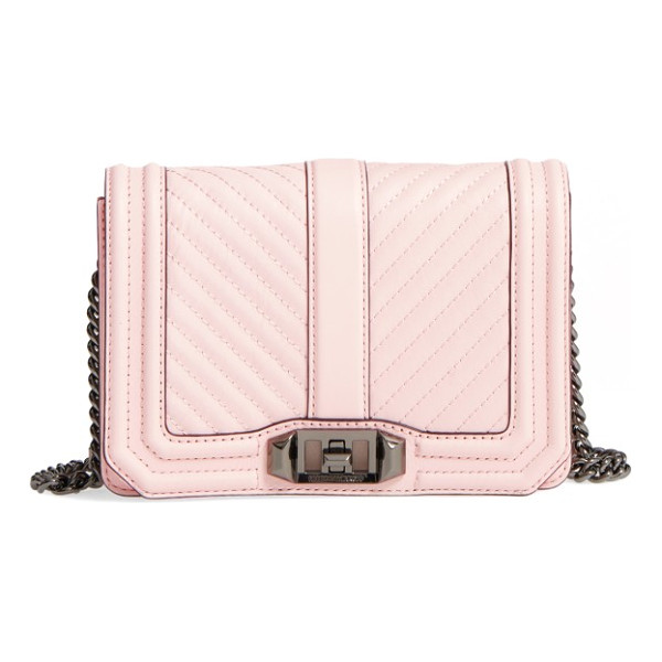 REBECCA MINKOFF small love leather crossbody bag - Going out? Then go with this. With channel quilting and
