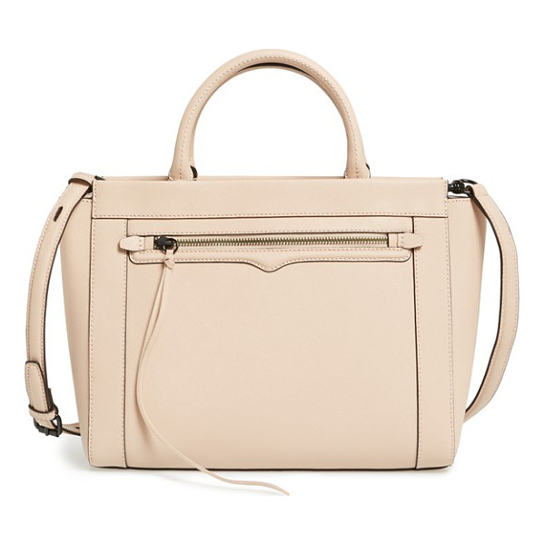 REBECCA MINKOFF Small monroe tote - A signature curved flap accentuates the zipper pocket of a...