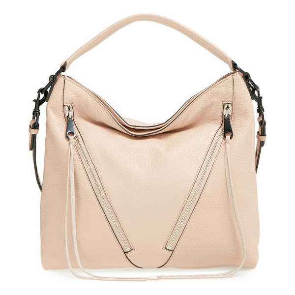 REBECCA MINKOFF Small moto hobo - Angled front zip pockets with signature long, trailing...