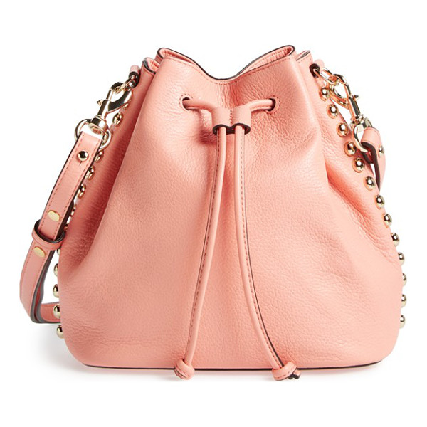 REBECCA MINKOFF Unlined bucket bag - Goldtone studs trace the chic, slouchy profile of a...