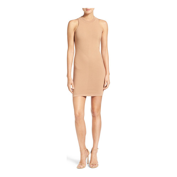REBECCA MINKOFF 'val' body-con dress - Mixed-directional rib knitting adds incredible dimension to...
