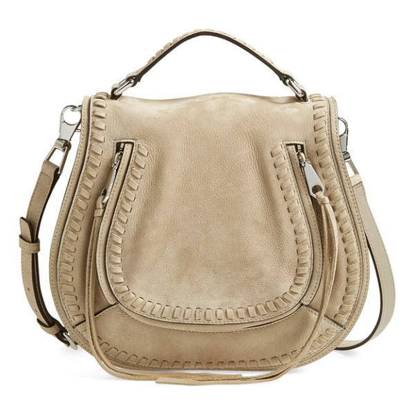 REBECCA MINKOFF Vanity saddle bag - Chunky whipstitching traces the saddle-inspired flap of a...
