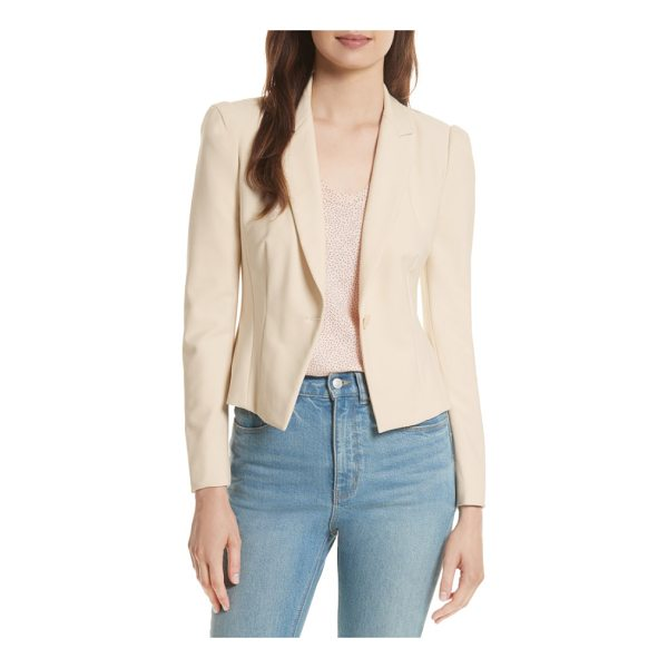 REBECCA TAYLOR stretch suiting jacket - The power jacket gets a fresh infusion of feminine style in...