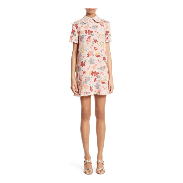 RED VALENTINO floral print silk dress - Inspired by the fashionable rockers who once inhabited the...