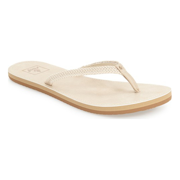REEF downtown truss flip flop - Slim braided straps instantly upgrade a comfy,...
