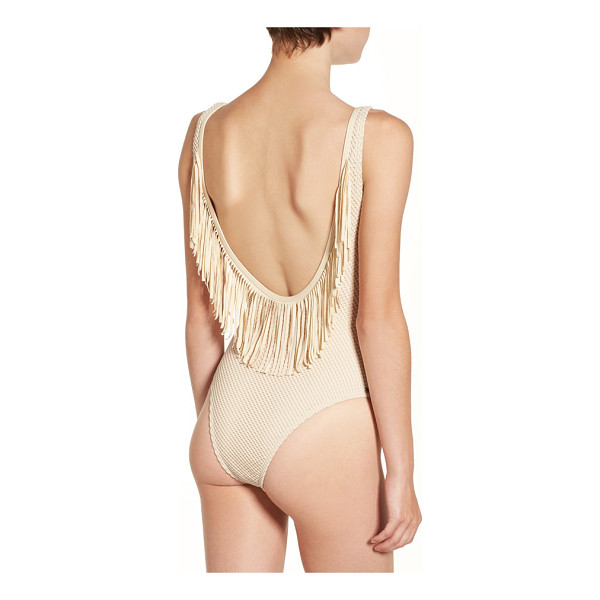 RIP CURL 'joyride' fringe one-piece swimsuit - Swingy fringe highlights the saucy, shoulder-baring dipped...