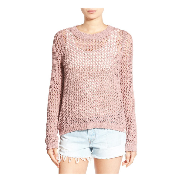 RIP CURL 'looking back' mesh knit pullover - An airy mesh-knit pullover made from soft, cooling cotton...