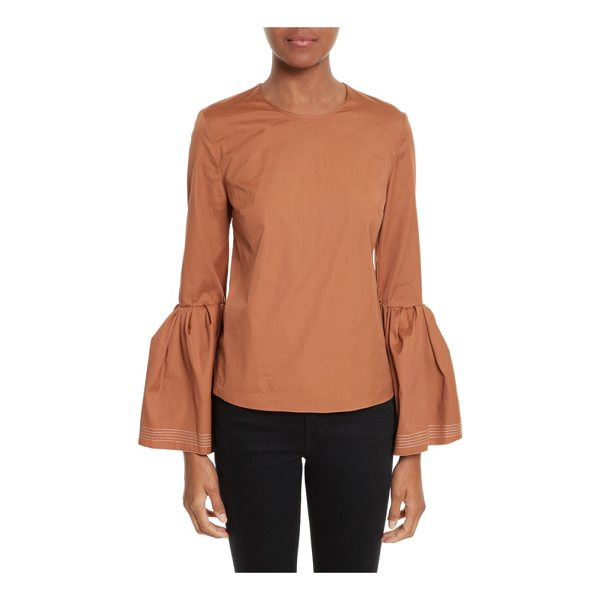 ROKSANDA truffaut bell sleeve top - Dramatic, flowy bell sleeves add a trend-right touch to a...