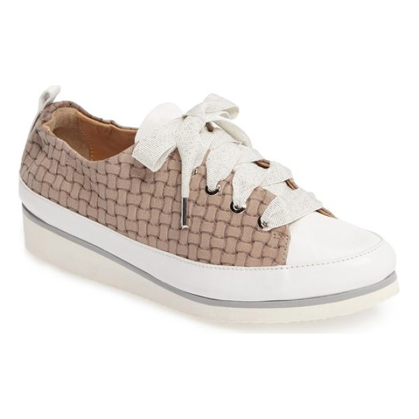 RON WHITE nova sneaker - Shimmery grosgrain ribbon laces bring girly charm to a...