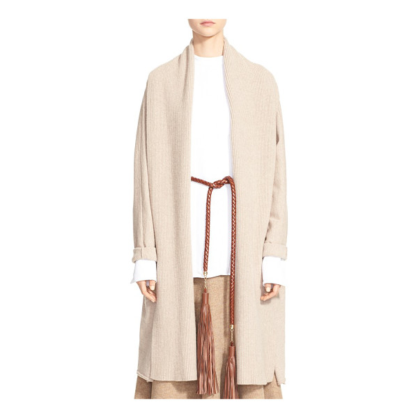 ROSETTA GETTY wool & cashmere cardigan - An oversized shawl collar lends a beautiful draped effect...