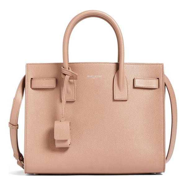 SAINT LAURENT Baby sac de jour bonded leather tote - Bonded calfskin leather enriches a sized-down version of a...