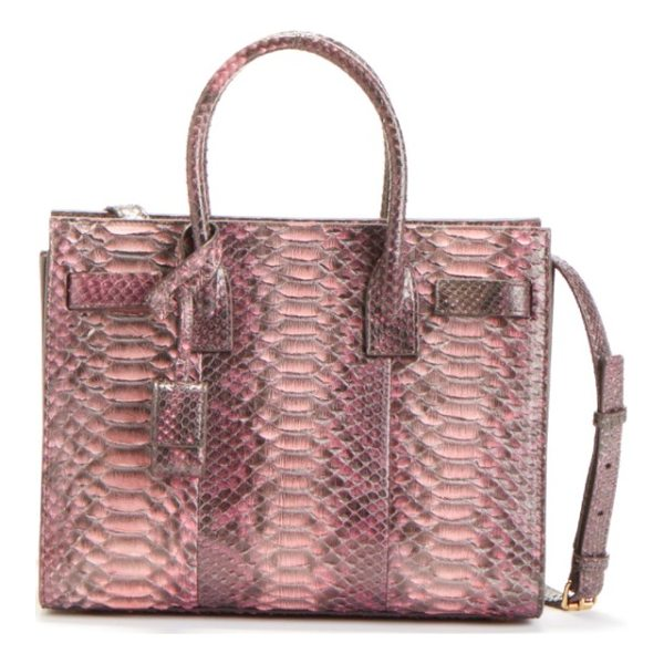 SAINT LAURENT 'baby sac de jour' genuine python tote - A Saint Laurent tote impeccably crafted from vibrant python...