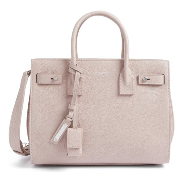 SAINT LAURENT baby sac de jour leather tote - Lavish grained leather showcases the clean, graceful lines...