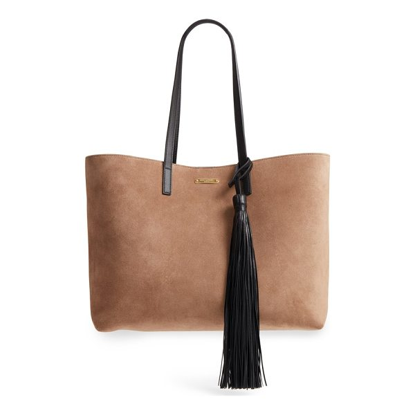 SAINT LAURENT east/west suede tote - A cleanly styled tote from Saint Laurent in supple suede...