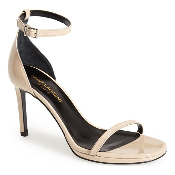 SAINT LAURENT jane ankle strap sandal - Both classic and contemporary, sexy and elegant, the Jane...