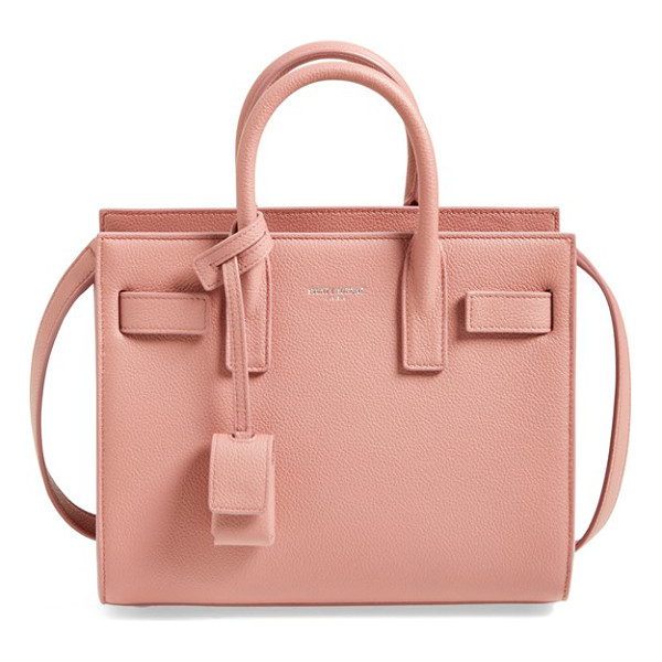 SAINT LAURENT Nano sac de jour calfskin leather tote - A compact, structured bag looks so polished right now, and...