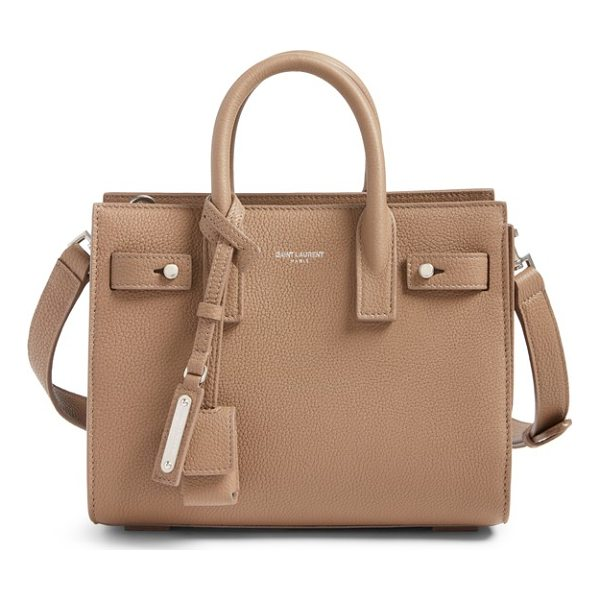 SAINT LAURENT nano sac du jour leather tote - A compact Saint Laurent bag in textured calfskin leather...