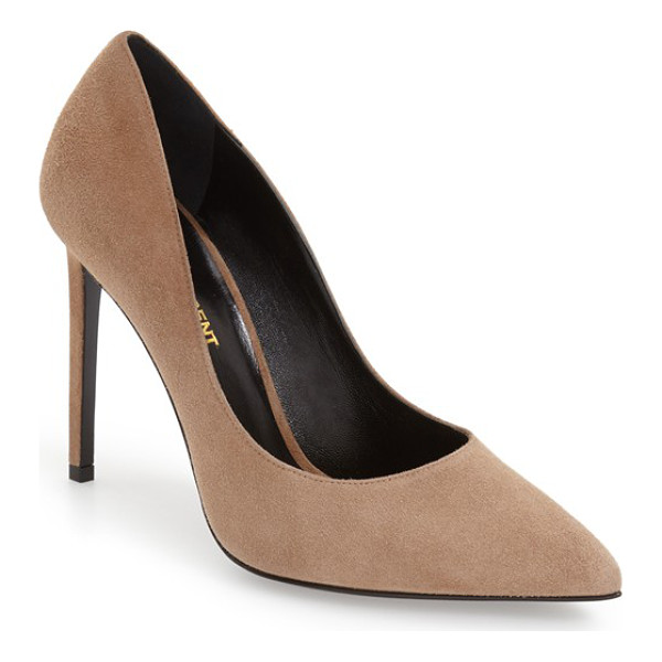 SAINT LAURENT 'paris skinny' pointy toe pump - A alluringly curvy topline and bewitching pointy toe define...