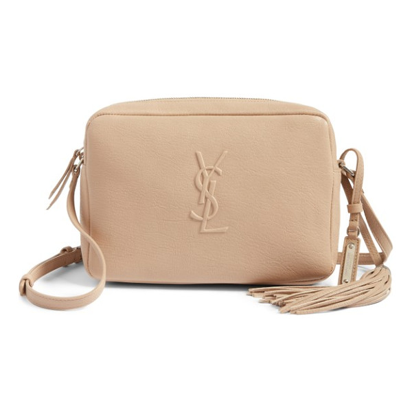 SAINT LAURENT small mono leather camera bag - A minimalist crossbody bag makes maximum impact with an