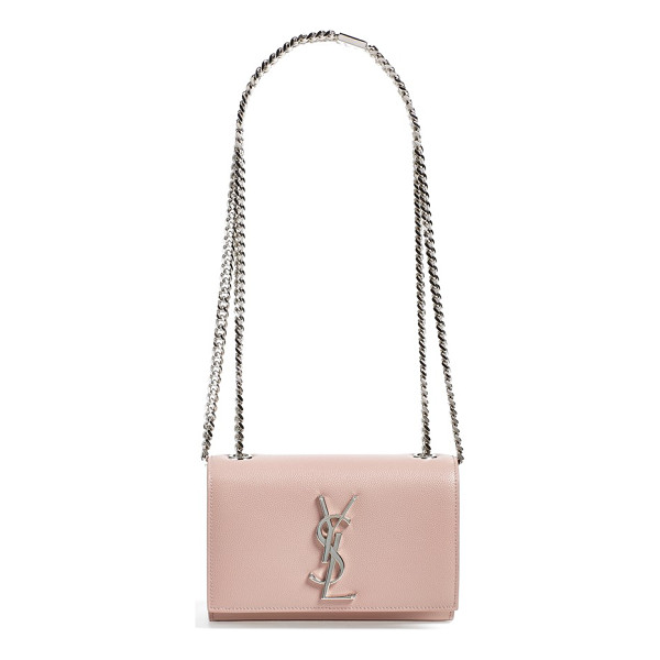 SAINT LAURENT Small monogram leather crossbody bag - Softly grained calfskin illuminates an exquisite crossbody...
