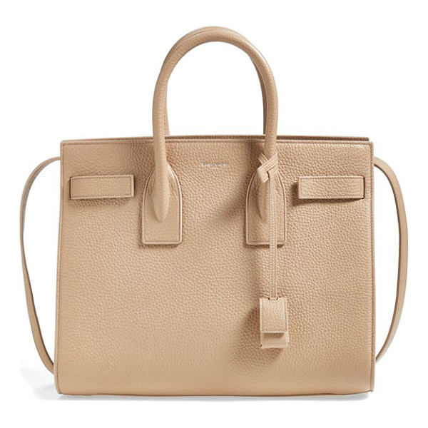 SAINT LAURENT Small sac de jour grained leather tote - Lush grained calfskin enriches a signature tote designed...