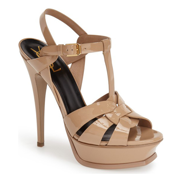 SAINT LAURENT tribute t-strap platform sandal - An icon since it first debuted on the runway, Saint...