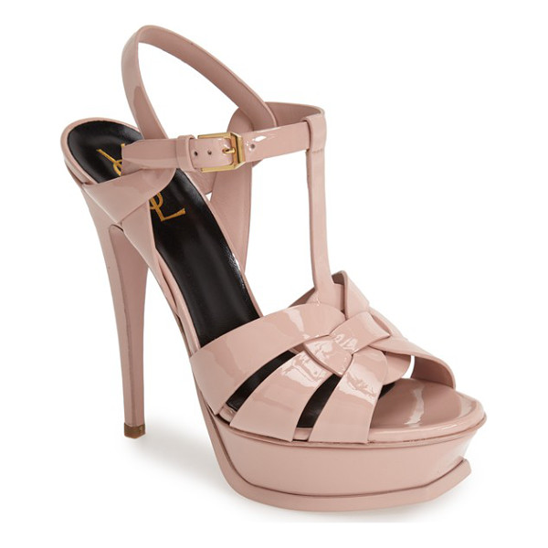 SAINT LAURENT tribute t-strap platform sandal - An icon since it first debuted on the runway, Saint