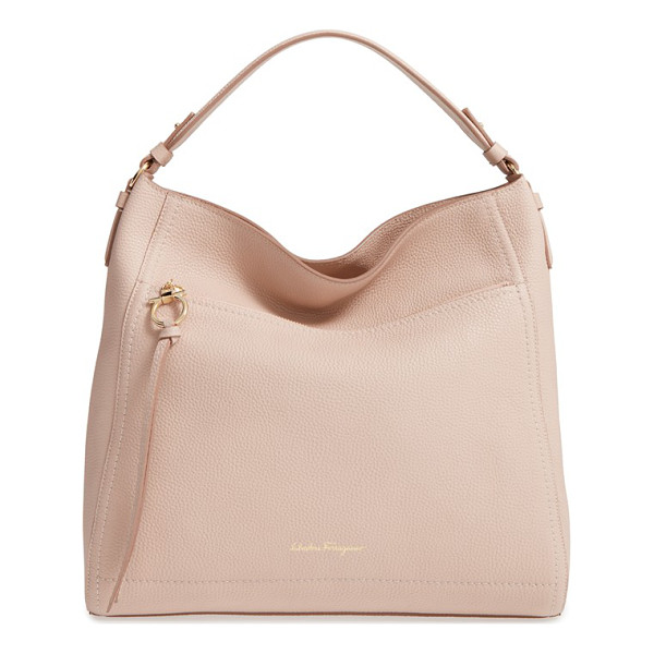 SALVATORE FERRAGAMO ally leather hobo - Clean lines underscore the elegant style of a spacious
