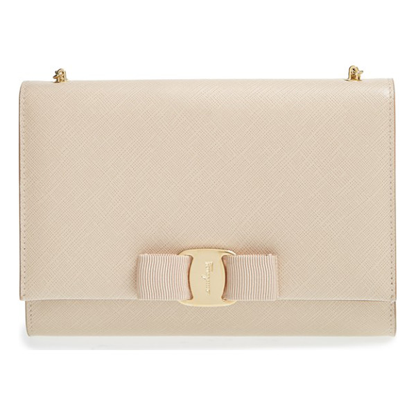 SALVATORE FERRAGAMO 'miss vara' clutch - A grosgrain ribbon and logo-etched buckle lend femme flair...