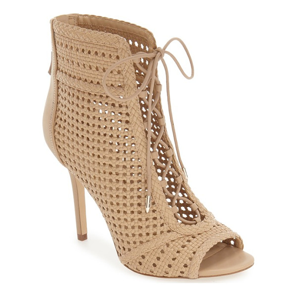 SAM EDELMAN abbie bootie - A woven finish and ghillie laces add plenty of vintage