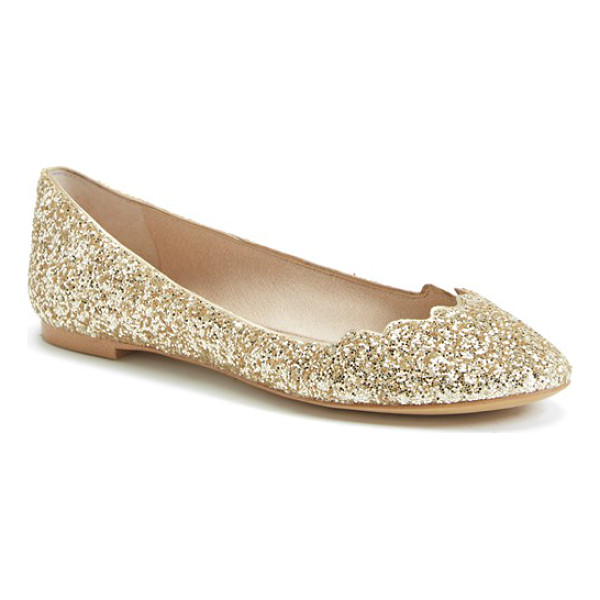 SAM EDELMAN alaine scalloped topline flat - The classic ballet flat gets a playful twist with a...